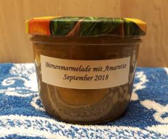 Birnenmarmelade mit Amaretto