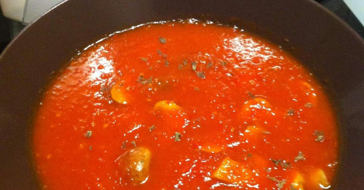 tomaten paprika suppe mit champions von mesen ein thermomix rezept aus der kategorie suppen. Black Bedroom Furniture Sets. Home Design Ideas