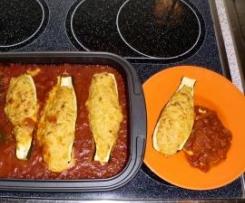 Gefüllte Zucchini (vegetarisch)