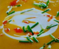 Süßkartoffelsuppe mit Chili - pikant oder feurig