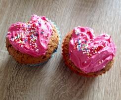 Herz Cupcakes mit Buttercream Icing