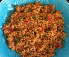 Tomaten-Couscous mit Schafskäse