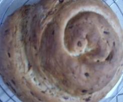Variation von Kräuter-Nuss-Brot (Zwiebel-Speck-Brot)