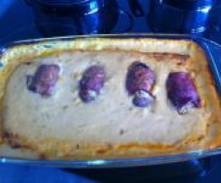 Spargel-Senf-Schnitzelröllchen aus dem Ofen (WW)