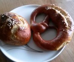 Laugenbrötchen / -wecklen/ -brezeln über Nacht wie vom Bäcker