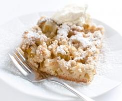Rhabarberkuchen/Obstkuchen mit Streusel