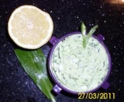 Bärlauchbutter mit Zitrone