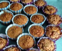 Käse-Muffins mit Paprika oder Schinken