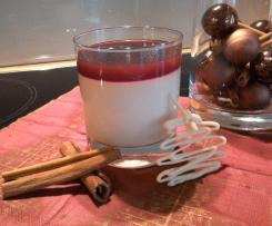 Weihnachts Panna Cotta mit Kirschsoße
