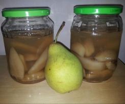 Birnen einlegen im Glas