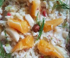 Fenchel Salat Fenchelsalat mit Orange, Apfel und Banane