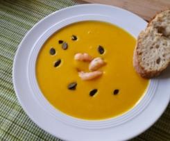 Kürbiscremesuppe mit Karotten