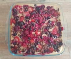 Baked Oats mit Früchten Vegan