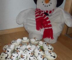 Schneemann- Muffins, Winter- Muffins