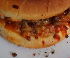 Männer-Monster-Party-Pizza-Burger - Hüftgoldalarm