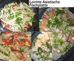Leichte asiatische Gemüse-Fischplatte