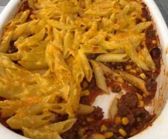 Überbackene Chili Con Carne Nudeln