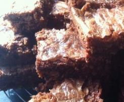 Brownies mit Haferflocken und Walnüssen