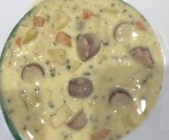 Variation Kartoffelsuppe