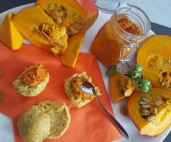 Kürbisbutter / vegetarische Kürbis-Bolognese