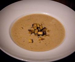 Schnelle Maronen-Kokos-Creme-Suppe (vegan)