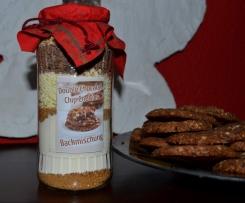 Backmischung für Double Chocolat Chip Cookies