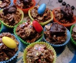 Knusprige Karamell-Oster Muffins -die NICHT gebacken werden- Kindergeburtstag