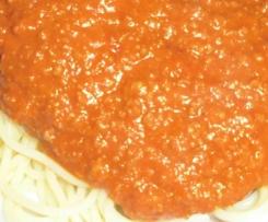 Spaghetti Bolognese (süße Variation)