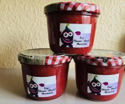 Feigen Marmelade mit Pflaumen und Mandeln