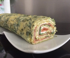 Spinat-Lachs Rolle ohne Teig !