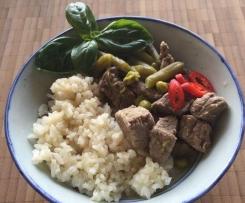 Grünes Thai-Curry mit Rind