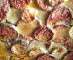 Moussaka mit Aubergine und Zucchini