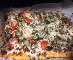 Cheesburger Pizza
