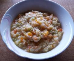Zucchini-Karotte mit Geflügel