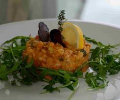Spanisches Risotto mit Gemüse und Chorizo