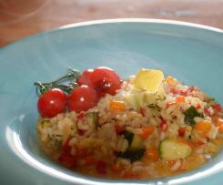Gemüse Risotto mit Parmesan