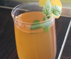 Eistee-Sirup Pfirsich-Zitrone