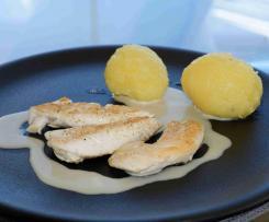 Weißwein-Sahne-Sauce für Hühnerbrust