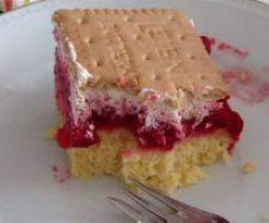 Butterkeks-Himbeer-Kuchen