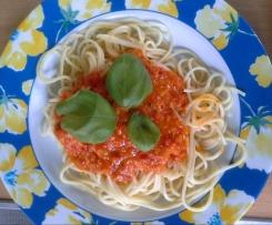 Tomaten - Avocado - Sauce mit Spaghetti