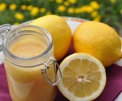 Lemon Curd (Zitronencreme) nicht zu süß und nicht zu fett