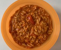 Reisnudeln Kritharaki Risoni - Tomate Mozzarella | vegetarisch | schnell und einfach