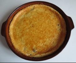 Far breton - gebackener Pudding mit Rumpflaumen