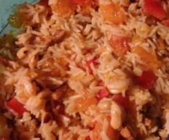 Veganer Reissalat mit Sojaschnetzel vegan