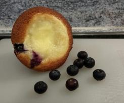 Blaubeer Muffins mit Vanillecreme