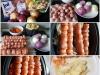 Möhren-Bratwurst-Spieße mit Kartoffeln und Zwiebelsauce aus Best of Thermomix