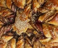 fruchtige Schokoladenblume (Variation der Nutellablume)