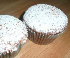 Variation von schnelle Vanillie-Sahne-Joghurt Muffins mit Äpfel