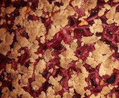 Variation von Quark- Erdbeer- Streuselkuchen (glutenfrei)