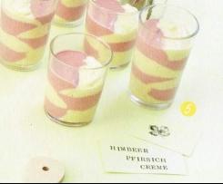 Himbeer-Pfirsich-Creme Finessen 02 / 2014